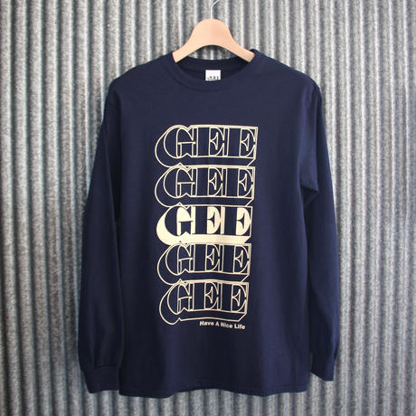 GEE ORIGINAL L/S T-SHIRTS / NAVY