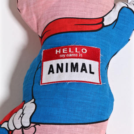 ALM VINTAGE FABRIC CUSHION /  LOONEY TUNES / PORKY PIG