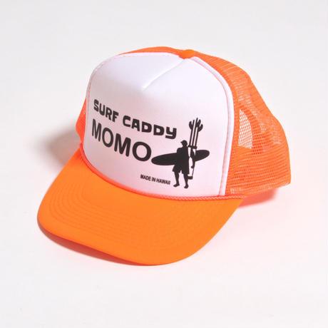ALM MOMO SURF CADDY CAP / WHITE×FLUORESCENT ORANGE