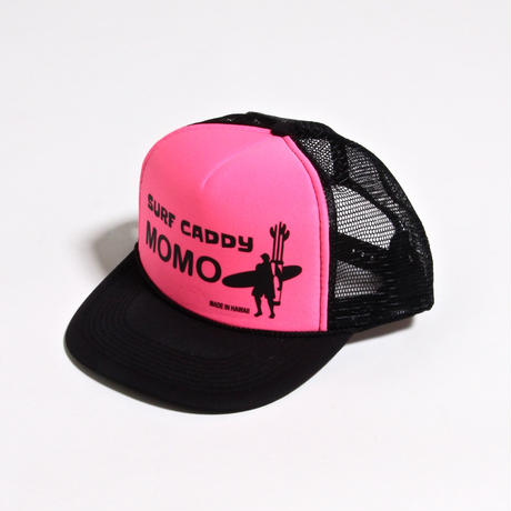 ALM MOMO SURF CADDY CAP / BLACK×FLUORESCENT PINK