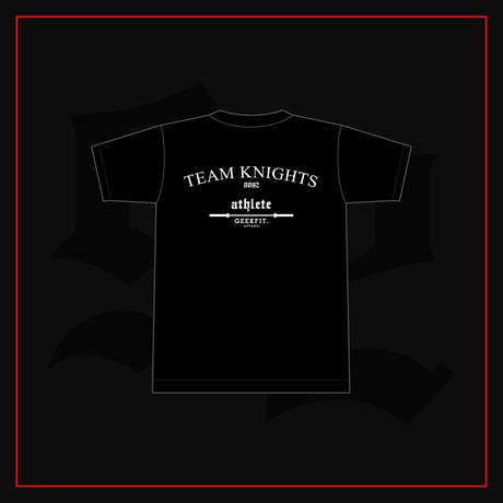 TEAM KNIGHTS athlete T-Shirt ver.1 [black]