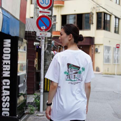 T-shirt White×Brown