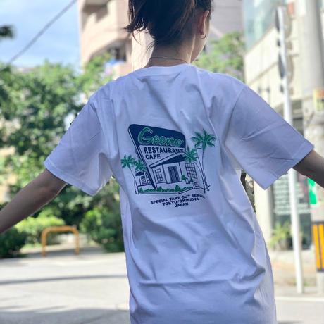 T-shirt グリーンブルー