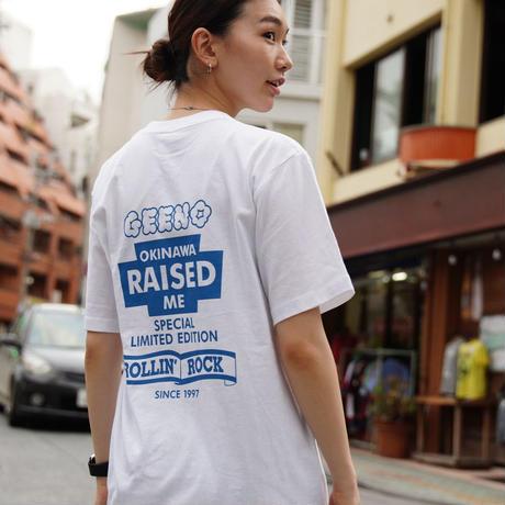 T-shirt White×Blue