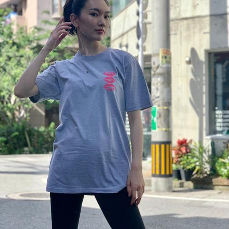 T-shirt Gray×Blue