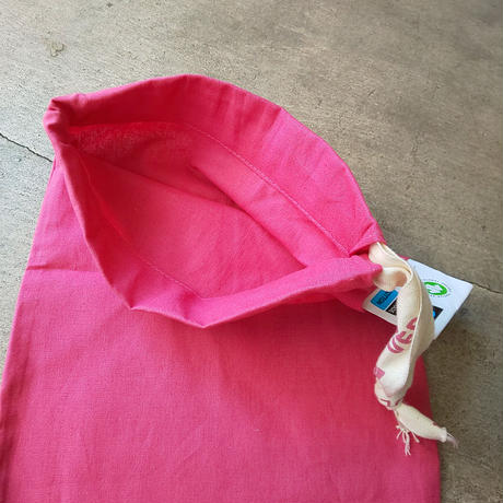 チェコ dm 巾着 濃いピンク