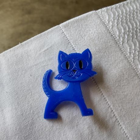 DDR バッジ ブルーのネコ
