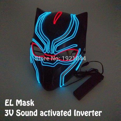 アベンジャーズ ブラックパンサー ELマスク LED ハロウィン 仮装 コスプレ パーティー クリスマス 光るマスク ギャグ A1257