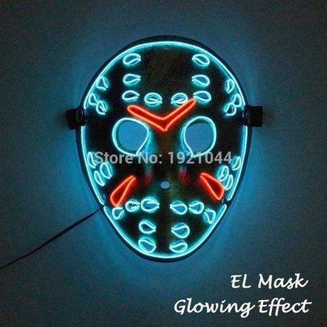 ジェイソン 13日の金曜日 ELマスク LED ハロウィン 仮装 コスプレ パーティー クリスマス 光るマスク ギャグ A1258