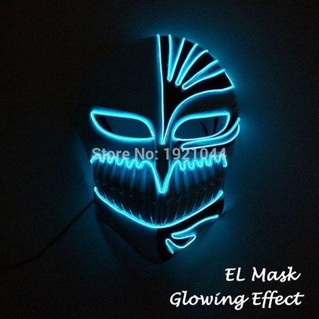 ブリーチ ホロウ アランカル  【 色:3タイプ 】  ELマスク LED ハロウィン 仮装 コスプレ BLEACH 光るマスク A1259-61