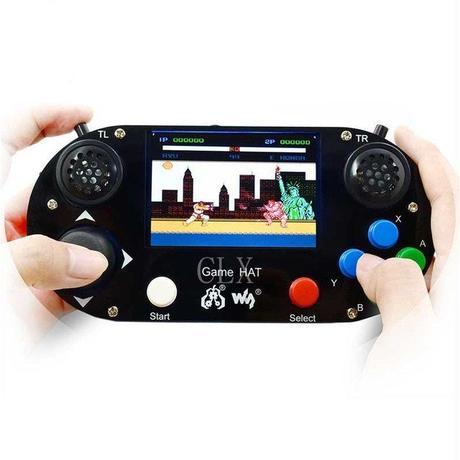 ラズベリーパイ 3B + ゲーム液晶 3.5インチ + HDMI ゲームパット ハット HAT A1182
