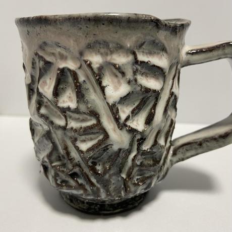 マグカップ(萩焼 / 萩焼窯元 国輔窯)  5500  ダイヤカット