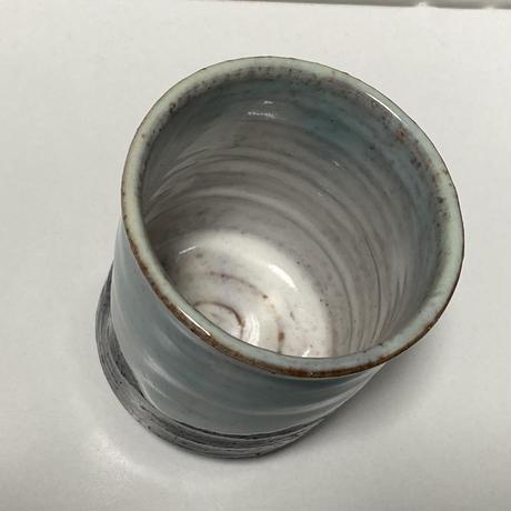 湯呑(萩焼 / 萩焼窯元 国輔窯)  3000  ツートンカラー ブルー