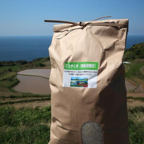 【2021年(令和3年)新米】 ごりやく米(東後畑棚田こしひかり) 玄米(5kg)