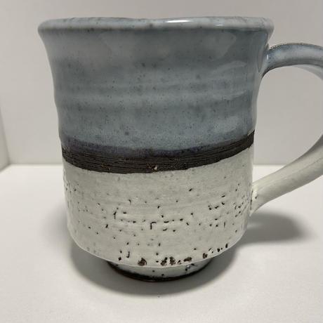 マグカップ(萩焼 / 萩焼窯元 国輔窯)  3000  ツートンカラー 青