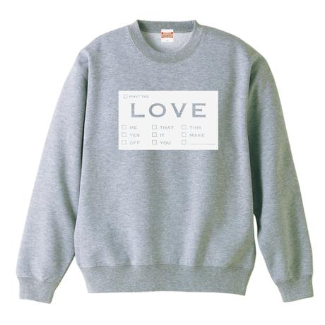 Love トレーナー  パターン1・2