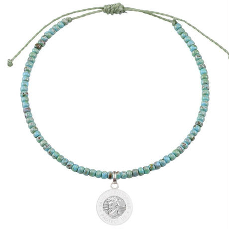 The Seed Bead Bracelet / Jade n' White / Silver / White