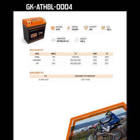 LITIUM BATTERIES GK-ATHBL-0004
