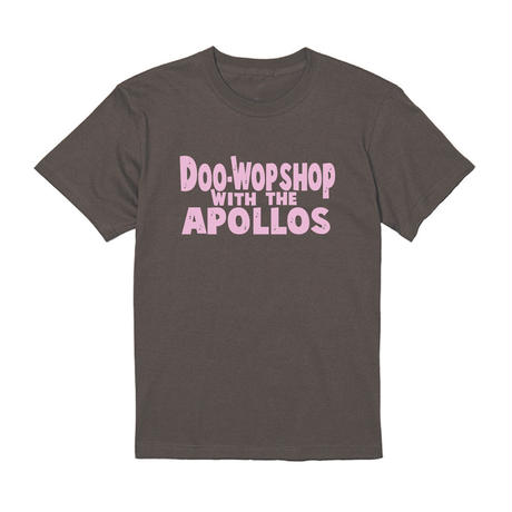 THE APOLLOS / DOO-WOP SHOP Tee(チャコール×ピンク)