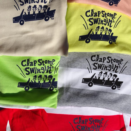 Clap Stomp Swingin' / ボーダーTee(レッド×ホワイト)