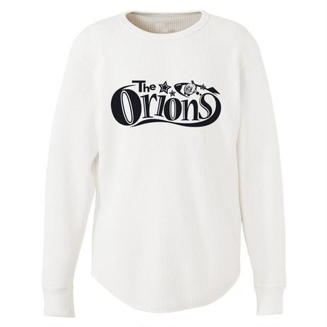 The ORIONS / ワッフル O-LOGO Tee 長袖 A(ホワイト)
