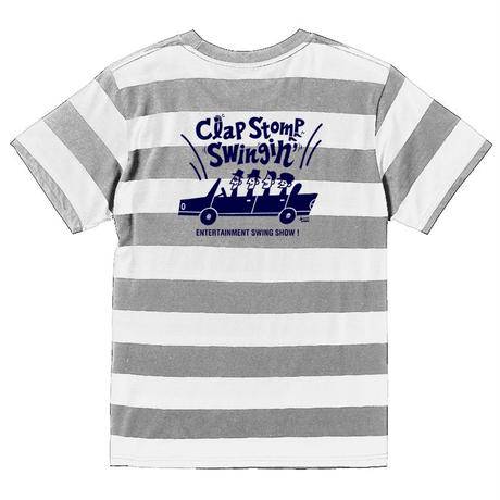 Clap Stomp Swingin' / ボーダーTee(グレー×ホワイト)