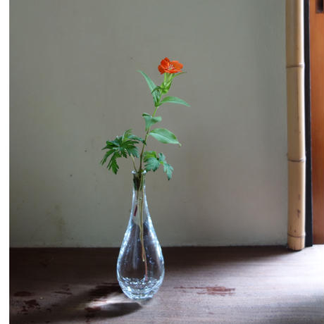 Akemi Kaminaga 泡鶴首吹きガラス花器