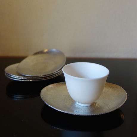 Akihito Imai 錫茶托 5枚set