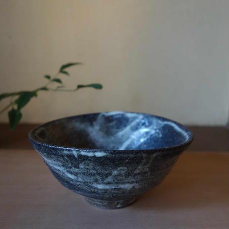 Norikazu Ogawa 黒泥彩楕円小鉢