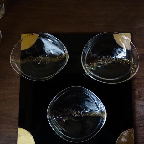 Akemi Kaminaga 金彩泡ガラス鉢