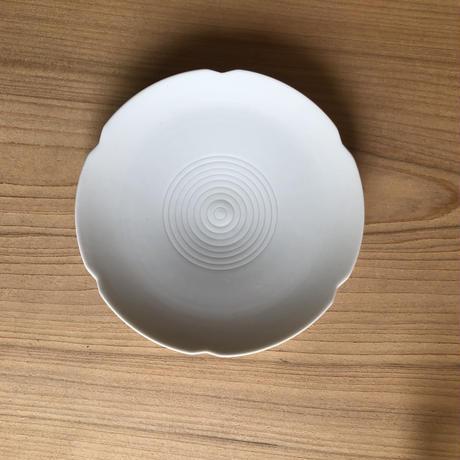 Masamitsu Kawai  白磁線紋小皿