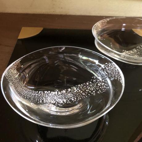 Akemi Kaminaga 銀彩泡ガラス鉢