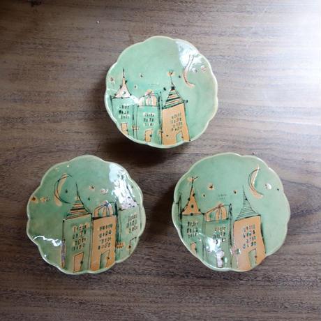 Naho Nishimoto お家小皿 グリーン