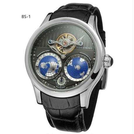 Forsining メンズ腕時計 自動巻 機械式 世界地図 海外ブランド ※カラーバリエーションあり