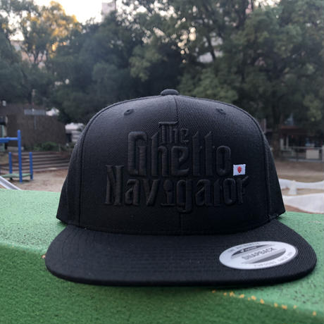 THE GHETTO NAVIGATOR snapback cap / Black × Black