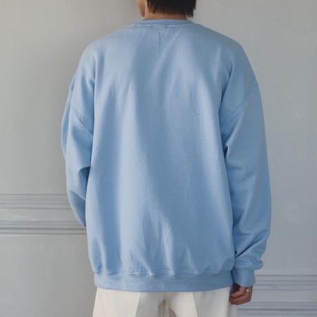 GIDEAL.20a/w刺繍ロゴスウェット(ライトブルー)