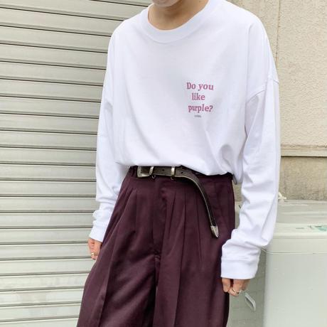 Do you like purple? GIDEAL.オリジナルロングTシャツ