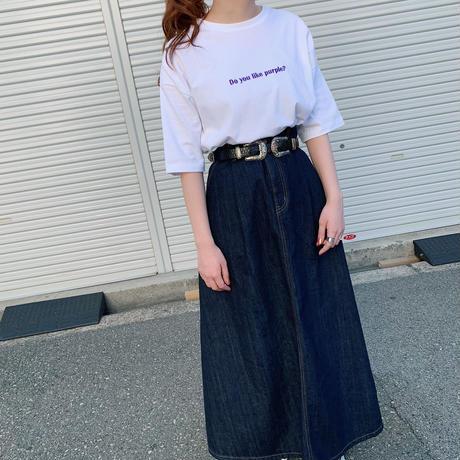 Do you like purple? GIDEAL.オリジナル刺繍Tシャツ