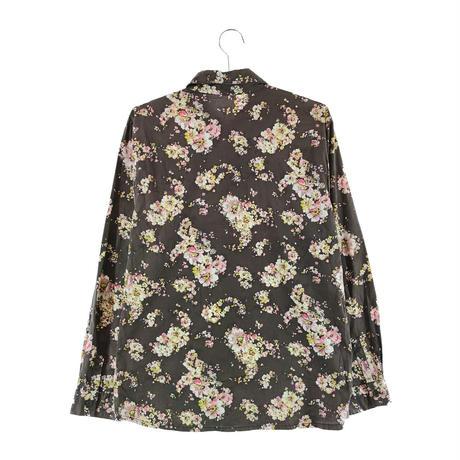 【古着】花柄シャツ