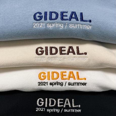 GIDEAL.21s/s 刺繍ロゴ刺繍Tシャツ【ライトブルー】