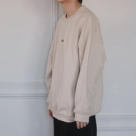 GIDEAL.20a/w刺繍ロゴスウェット(ベージュ)