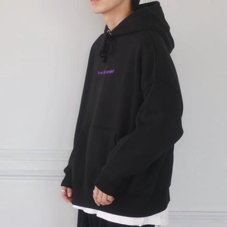 Do you like purple?刺繍パーカー(ブラック)
