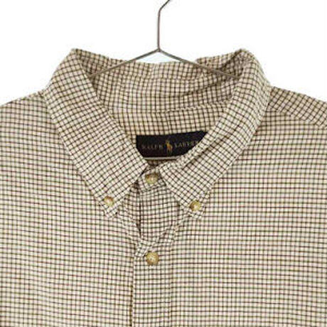 【古着】Ralph Laurenオーバーサイズチェックシャツ