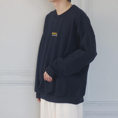 GIDEAL.20a/w刺繍ロゴスウェット(ネイビー)