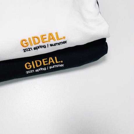 GIDEAL. 21s/s 刺繍ロゴロンT(ホワイト)