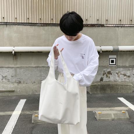 フェイクレザーバッグ(ホワイト)