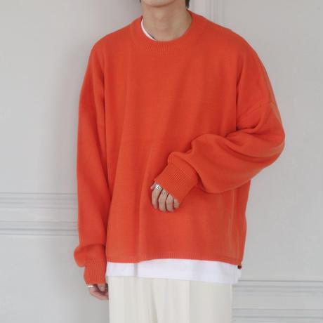 サイドスリットジップニット(オレンジ)