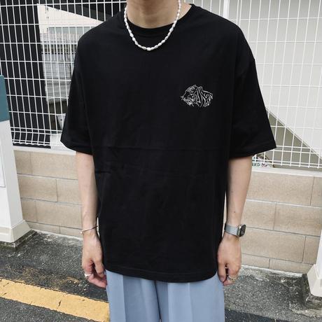 GIDEAL.虎刺繍Tシャツ