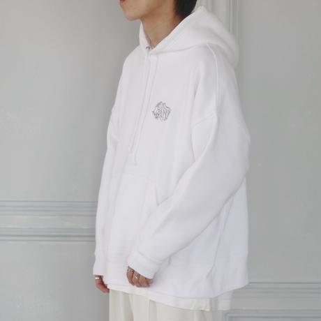 GIDEAL.虎刺繍パーカー(ホワイト)