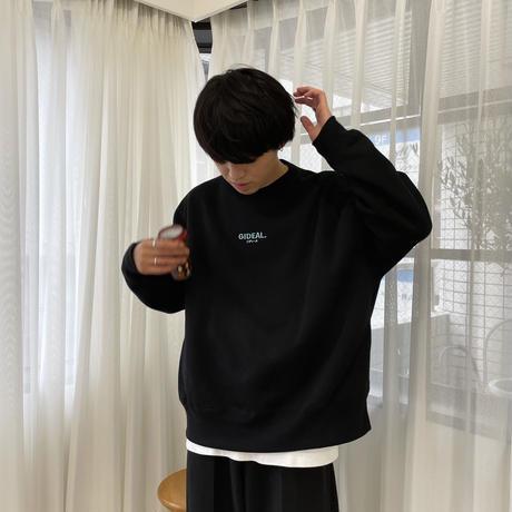 GIDEAL. オリジナルロゴ刺繍スウェット(ブラック)